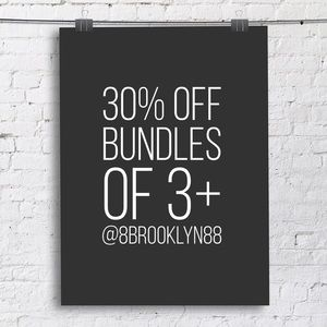 30% off bundles of 3 items or more